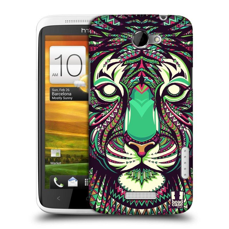 Plastové pouzdro na mobil HTC ONE X HEAD CASE AZTEC TYGR (Kryt či obal na mobilní telefon HTC ONE X)