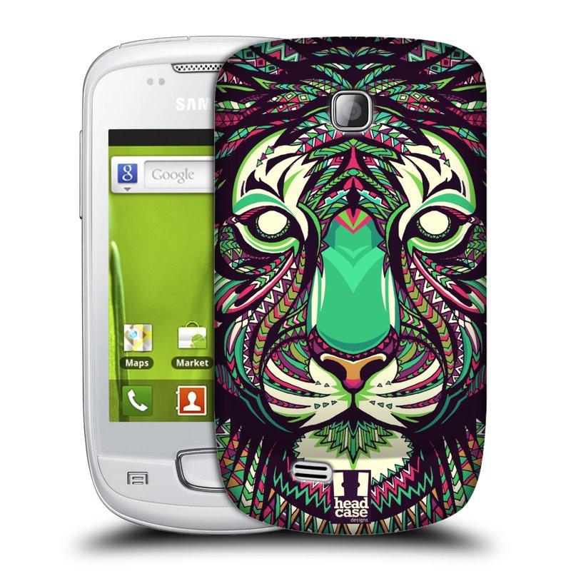 Plastové pouzdro na mobil Samsung Galaxy Mini HEAD CASE AZTEC TYGR (Kryt či obal na mobilní telefon Samsung Galaxy Mini GT-S5570 / GT-S5570i)