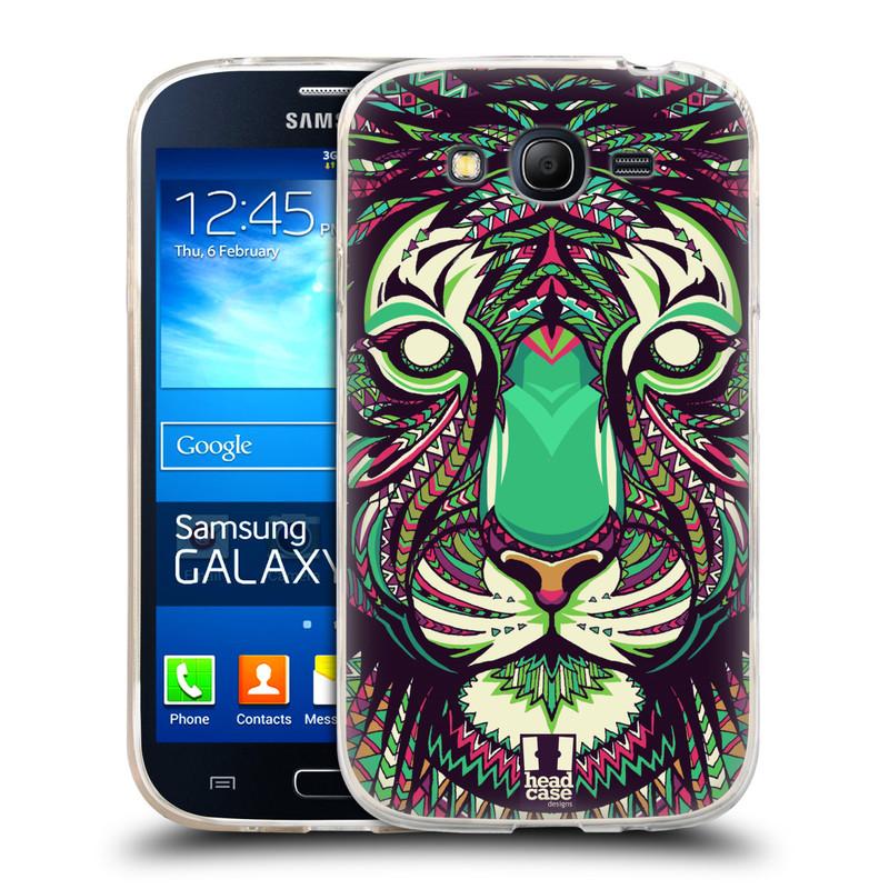 Silikonové pouzdro na mobil Samsung Galaxy Grand Neo HEAD CASE AZTEC TYGR (Silikonový kryt či obal na mobilní telefon Samsung Galaxy Grand Neo GT-I9060)