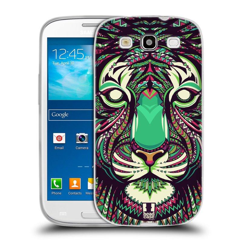 Silikonové pouzdro na mobil Samsung Galaxy S3 Neo HEAD CASE AZTEC TYGR (Silikonový kryt či obal na mobilní telefon Samsung Galaxy S3 Neo GT-i9301i)