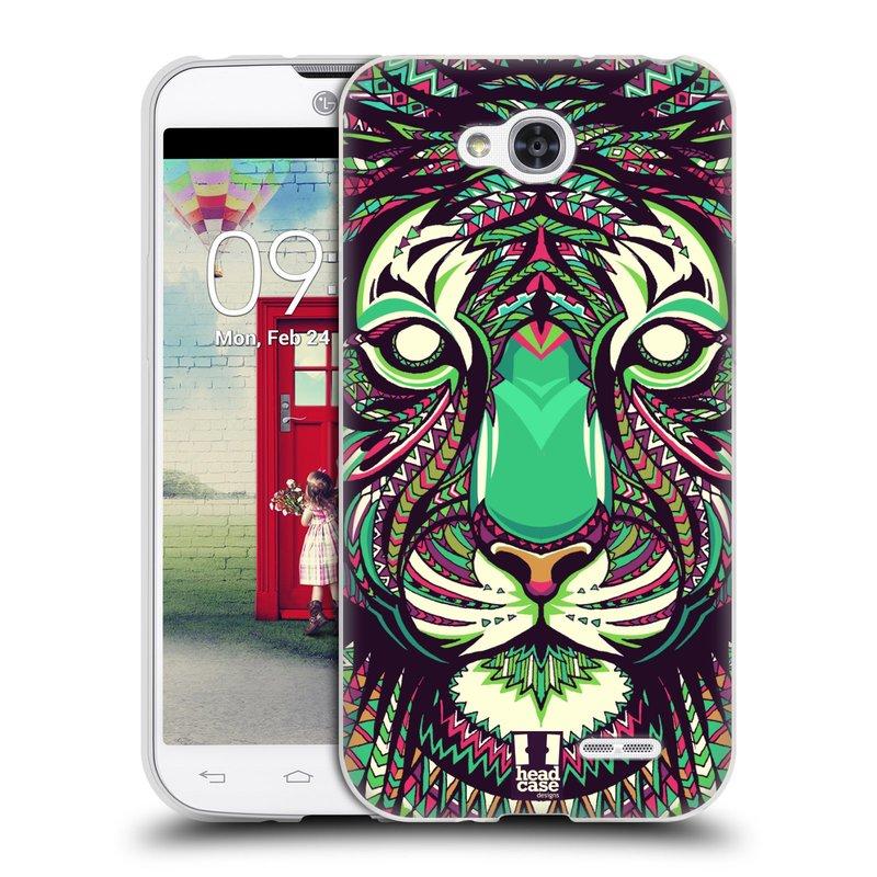 Silikonové pouzdro na mobil LG L90 HEAD CASE AZTEC TYGR (Silikonový kryt či obal na mobilní telefon LG L90 D405n)
