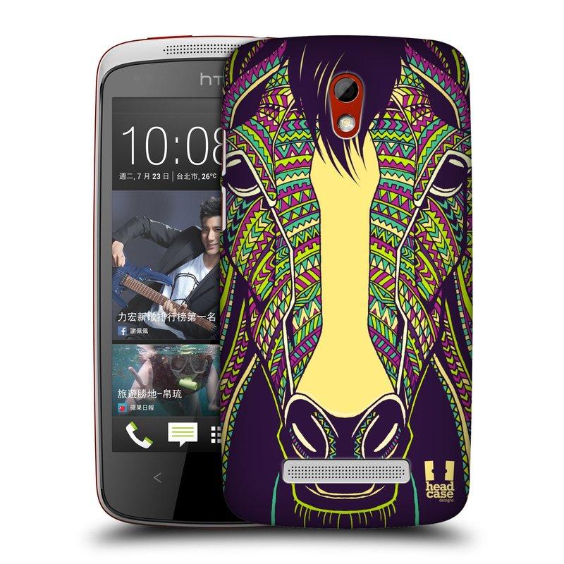 Plastové pouzdro na mobil HTC Desire 500 HEAD CASE AZTEC KŮŇ (Kryt či obal na mobilní telefon HTC Desire 500)