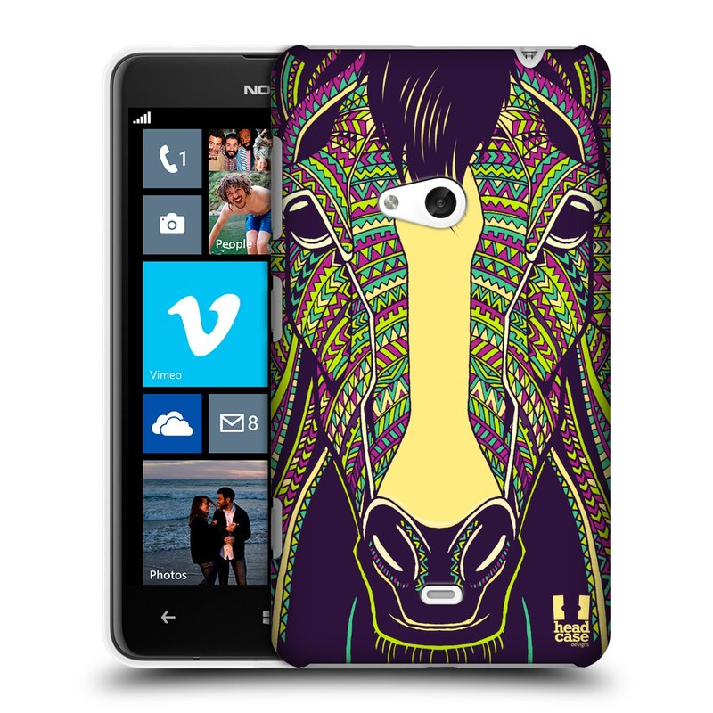 Plastové pouzdro na mobil Nokia Lumia 625 HEAD CASE AZTEC KŮŇ (Kryt či obal na mobilní telefon Nokia Lumia 625)