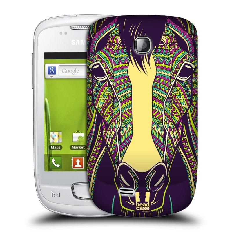 Plastové pouzdro na mobil Samsung Galaxy Mini HEAD CASE AZTEC KŮŇ (Kryt či obal na mobilní telefon Samsung Galaxy Mini GT-S5570 / GT-S5570i)