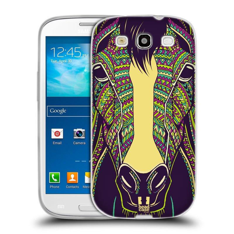 Silikonové pouzdro na mobil Samsung Galaxy S3 Neo HEAD CASE AZTEC KŮŇ (Silikonový kryt či obal na mobilní telefon Samsung Galaxy S3 Neo GT-i9301i)