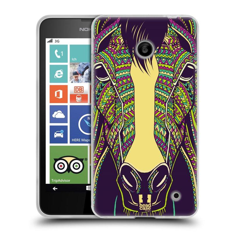 Silikonové pouzdro na mobil Nokia Lumia 630 HEAD CASE AZTEC KŮŇ (Silikonový kryt či obal na mobilní telefon Nokia Lumia 630 a Nokia Lumia 630 Dual SIM)