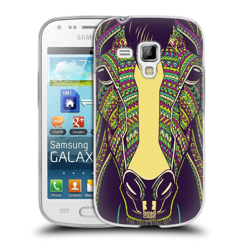 Silikonové pouzdro na mobil Samsung Galaxy Trend HEAD CASE AZTEC KŮŇ (Silikonový kryt či obal na mobilní telefon Samsung Galaxy Trend GT-S7560)