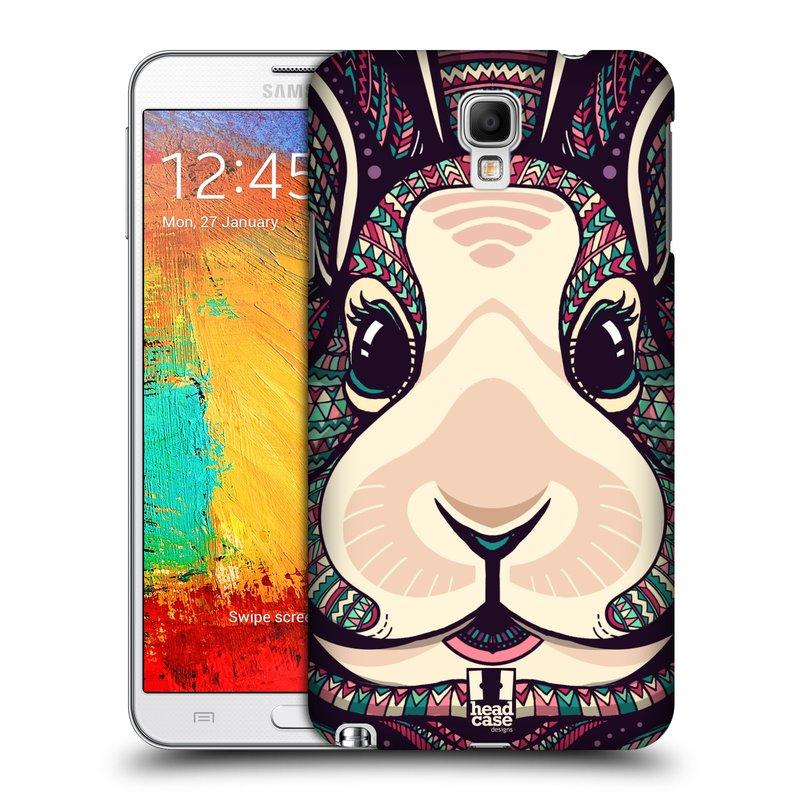 Plastové pouzdro na mobil Samsung Galaxy Note 3 Neo HEAD CASE AZTEC ZAJÍČEK (Kryt či obal na mobilní telefon Samsung Galaxy Note 3 Neo SM-N7505)
