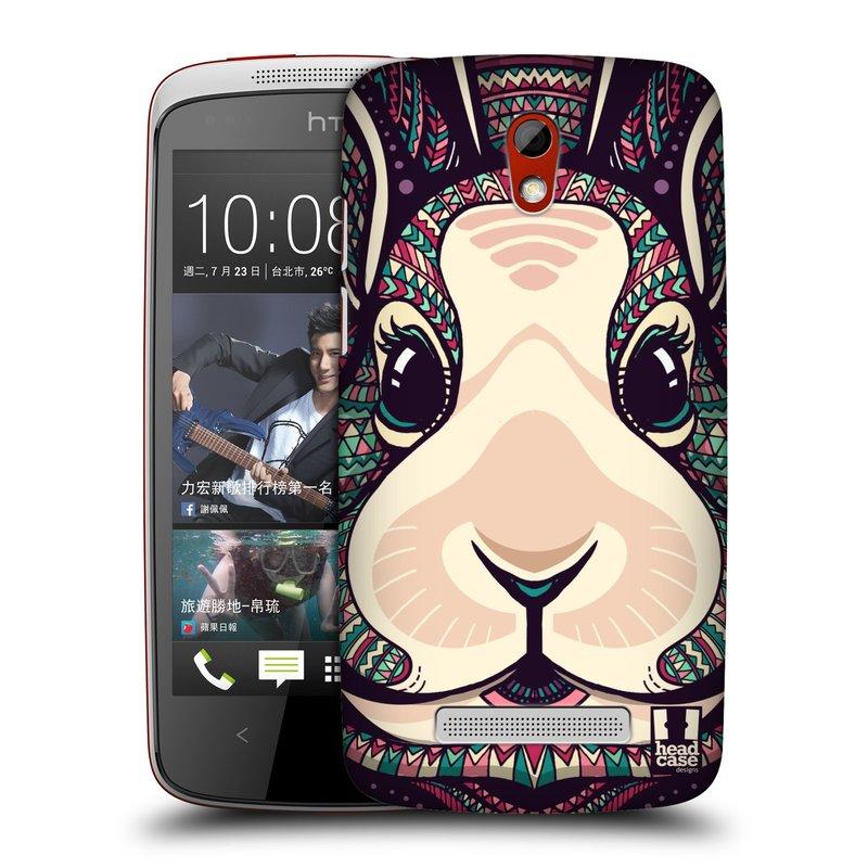 Plastové pouzdro na mobil HTC Desire 500 HEAD CASE AZTEC ZAJÍČEK (Kryt či obal na mobilní telefon HTC Desire 500)