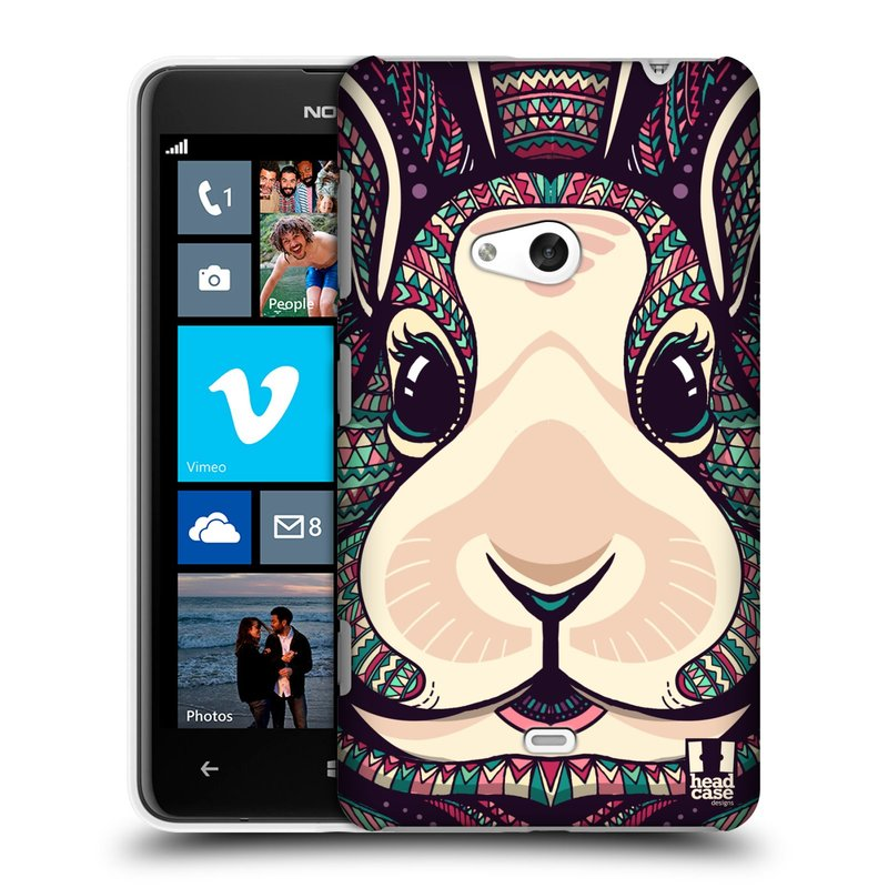 Plastové pouzdro na mobil Nokia Lumia 625 HEAD CASE AZTEC ZAJÍČEK (Kryt či obal na mobilní telefon Nokia Lumia 625)