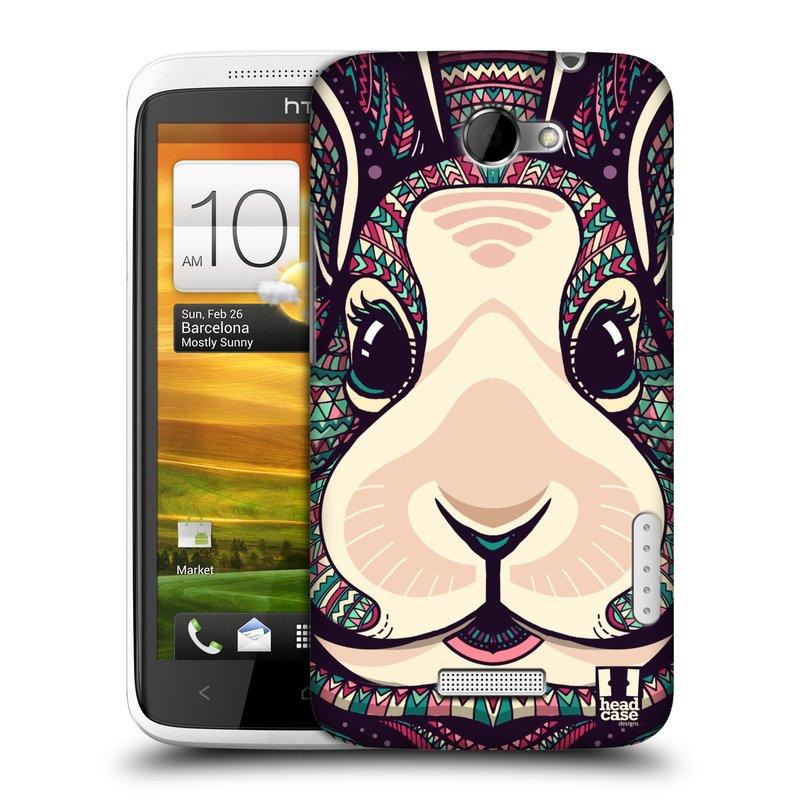 Plastové pouzdro na mobil HTC ONE X HEAD CASE AZTEC ZAJÍČEK (Kryt či obal na mobilní telefon HTC ONE X)