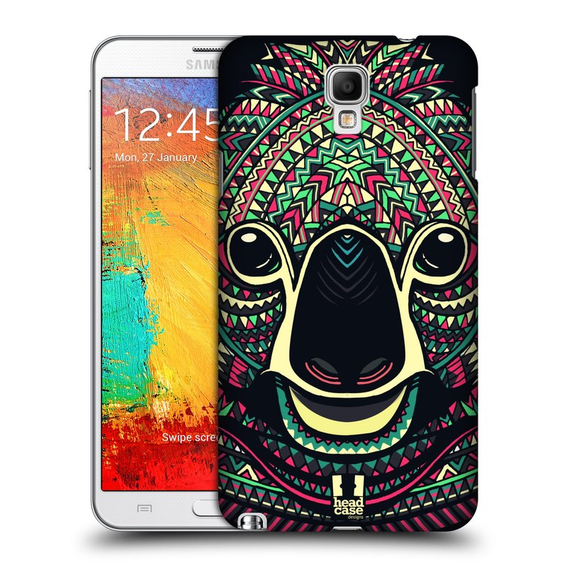 Plastové pouzdro na mobil Samsung Galaxy Note 3 Neo HEAD CASE AZTEC KOALA (Kryt či obal na mobilní telefon Samsung Galaxy Note 3 Neo SM-N7505)