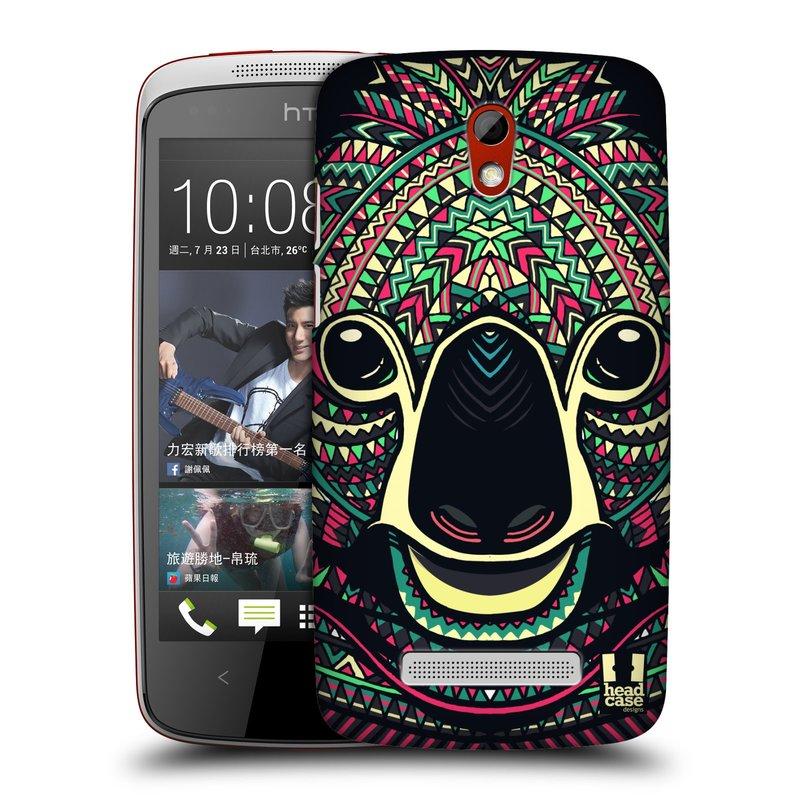 Plastové pouzdro na mobil HTC Desire 500 HEAD CASE AZTEC KOALA (Kryt či obal na mobilní telefon HTC Desire 500)