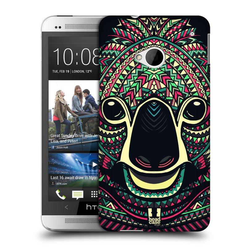 Plastové pouzdro na mobil HTC ONE M7 HEAD CASE AZTEC KOALA (Kryt či obal na mobilní telefon HTC ONE M7)
