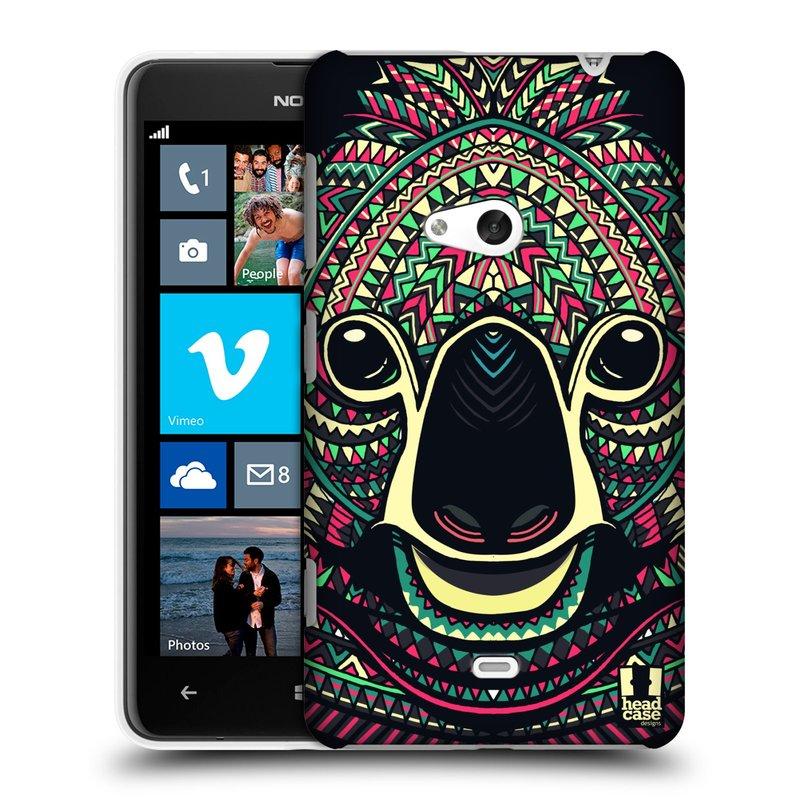 Plastové pouzdro na mobil Nokia Lumia 625 HEAD CASE AZTEC KOALA (Kryt či obal na mobilní telefon Nokia Lumia 625)
