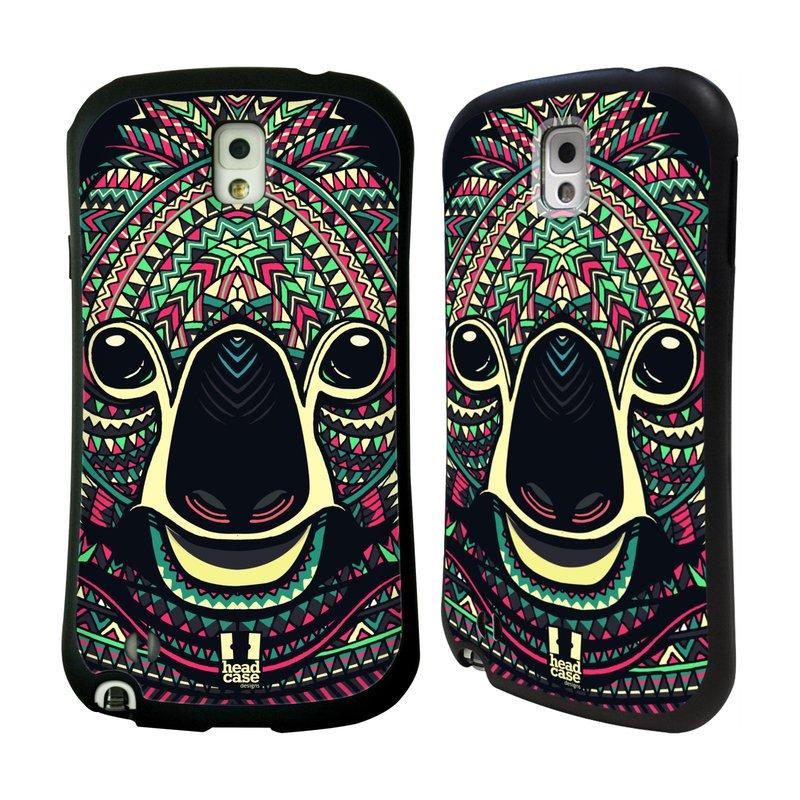 Nárazuvzdorné pouzdro na mobil Samsung Galaxy Note 3 HEAD CASE AZTEC KOALA (Odolný nárazuvzdorný silikonový kryt či obal na mobilní telefon Samsung Galaxy Note 3 SM-N9005)