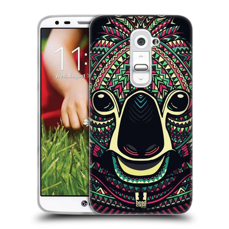 Silikonové pouzdro na mobil LG G2 HEAD CASE AZTEC KOALA (Silikonový kryt či obal na mobilní telefon LG G2 D802)