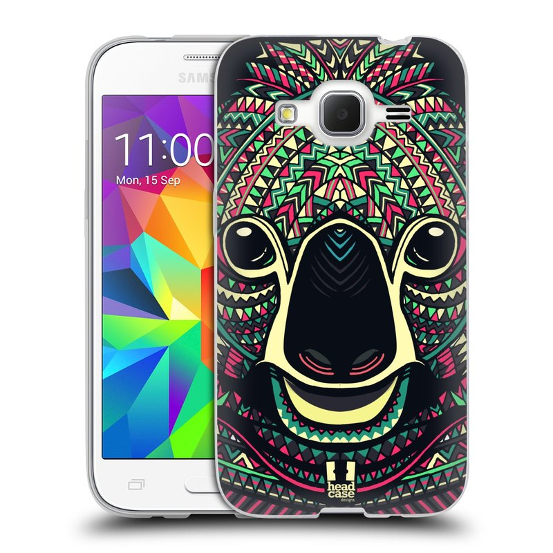 Silikonové pouzdro na mobil Samsung Galaxy Core Prime LTE HEAD CASE AZTEC KOALA (Silikonový kryt či obal na mobilní telefon Samsung Galaxy Core Prime LTE SM-G360)