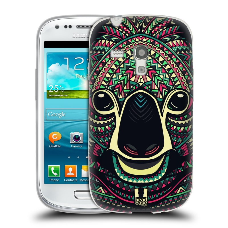 Silikonové pouzdro na mobil Samsung Galaxy S3 Mini VE HEAD CASE AZTEC KOALA (Silikonový kryt či obal na mobilní telefon Samsung Galaxy S3 Mini VE GT-i8200)