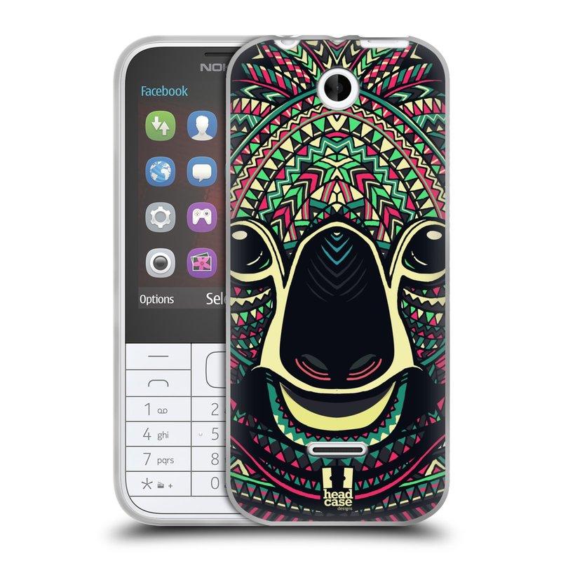 Silikonové pouzdro na mobil Nokia 225 HEAD CASE AZTEC KOALA (Silikonový kryt či obal na mobilní telefon Nokia 225)