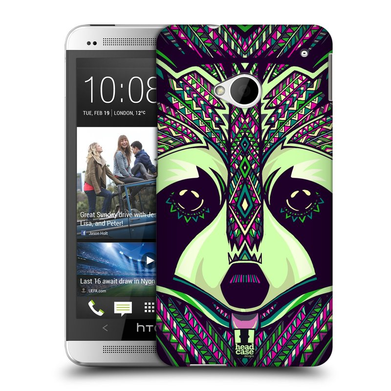 Plastové pouzdro na mobil HTC ONE M7 HEAD CASE AZTEC MÝVAL (Kryt či obal na mobilní telefon HTC ONE M7)