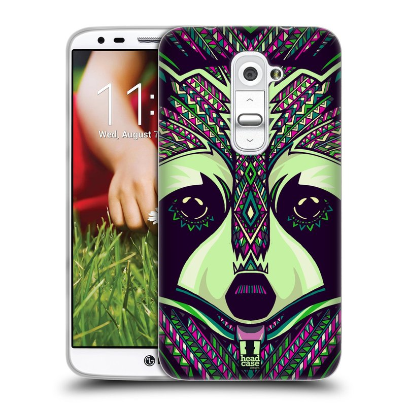 Silikonové pouzdro na mobil LG G2 HEAD CASE AZTEC MÝVAL (Silikonový kryt či obal na mobilní telefon LG G2 D802)