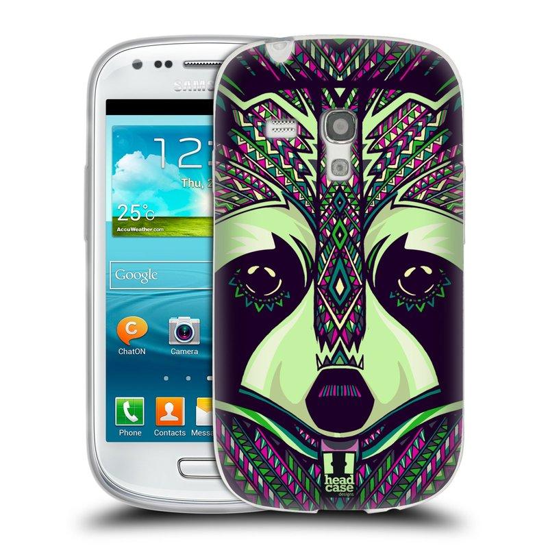 Silikonové pouzdro na mobil Samsung Galaxy S III Mini HEAD CASE AZTEC MÝVAL (Silikonový kryt či obal na mobilní telefon Samsung Galaxy S III Mini GT-i8190)