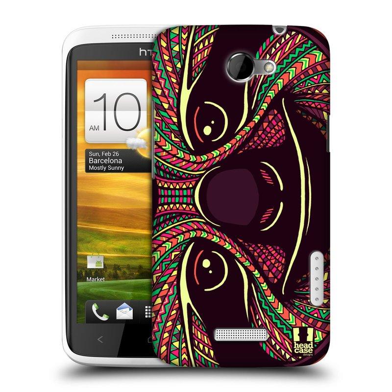 Plastové pouzdro na mobil HTC ONE X HEAD CASE AZTEC LENOCHOD (Kryt či obal na mobilní telefon HTC ONE X)
