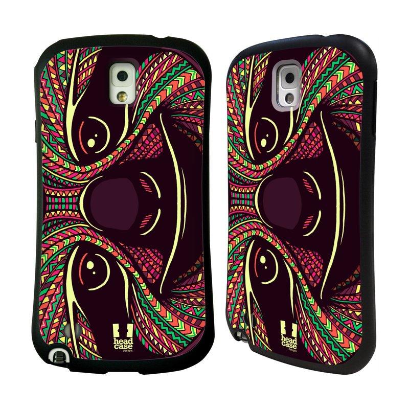 Nárazuvzdorné pouzdro na mobil Samsung Galaxy Note 3 HEAD CASE AZTEC LENOCHOD (Odolný nárazuvzdorný silikonový kryt či obal na mobilní telefon Samsung Galaxy Note 3 SM-N9005)