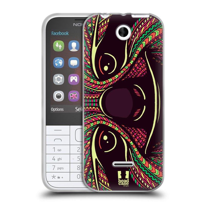 Silikonové pouzdro na mobil Nokia 225 HEAD CASE AZTEC LENOCHOD (Silikonový kryt či obal na mobilní telefon Nokia 225)
