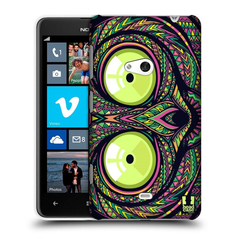 Plastové pouzdro na mobil Nokia Lumia 625 HEAD CASE AZTEC NÁRTOUN (Kryt či obal na mobilní telefon Nokia Lumia 625)