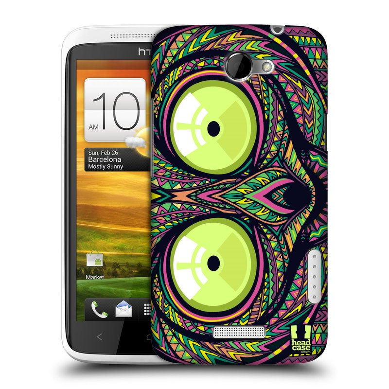 Plastové pouzdro na mobil HTC ONE X HEAD CASE AZTEC NÁRTOUN (Kryt či obal na mobilní telefon HTC ONE X)