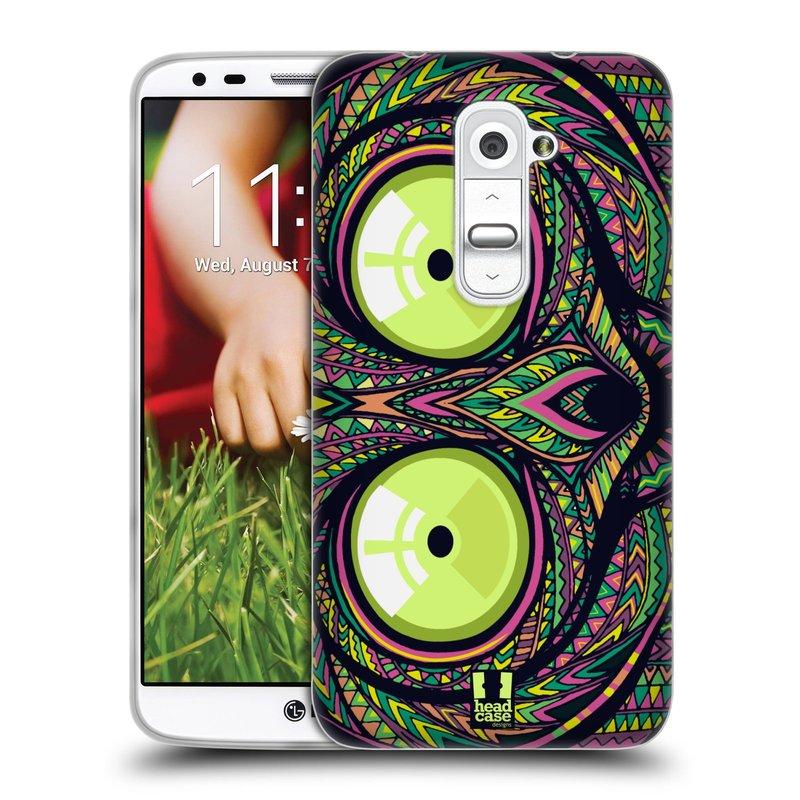 Silikonové pouzdro na mobil LG G2 HEAD CASE AZTEC NÁRTOUN (Silikonový kryt či obal na mobilní telefon LG G2 D802)