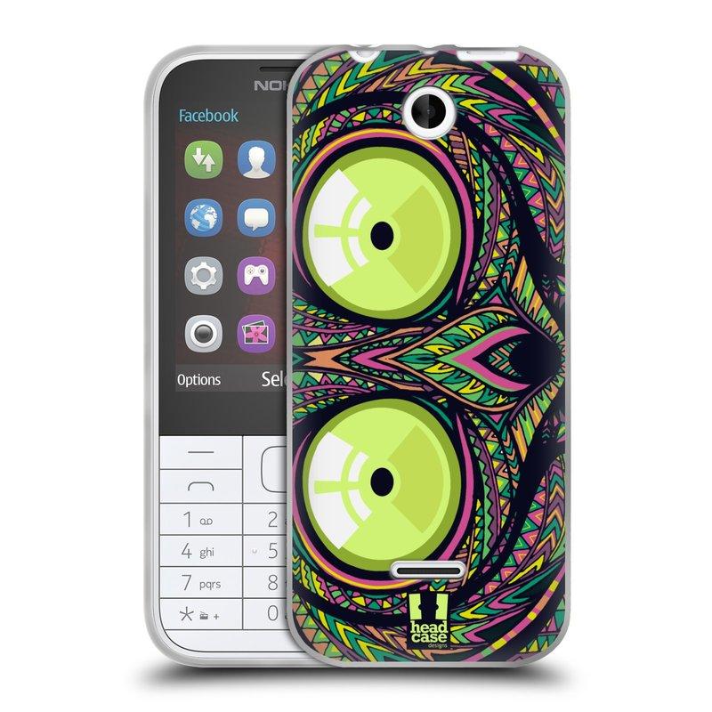 Silikonové pouzdro na mobil Nokia 225 HEAD CASE AZTEC NÁRTOUN (Silikonový kryt či obal na mobilní telefon Nokia 225)