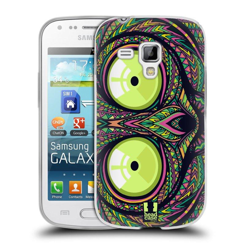 Silikonové pouzdro na mobil Samsung Galaxy S Duos 2 HEAD CASE AZTEC NÁRTOUN (Silikonový kryt či obal na mobilní telefon Samsung Galaxy S Duos 2 GT-S7582)