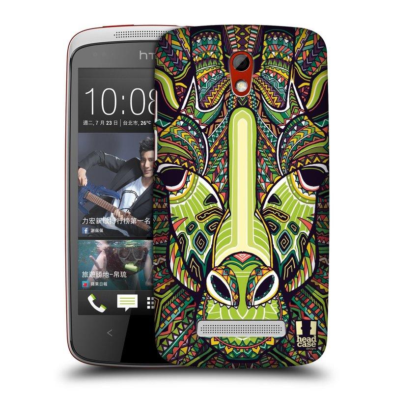 Plastové pouzdro na mobil HTC Desire 500 HEAD CASE AZTEC ŽIRAFA (Kryt či obal na mobilní telefon HTC Desire 500)