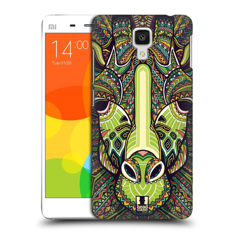 Plastové pouzdro na mobil Doogee Hitman DG850 HEAD CASE AZTEC ŽIRAFA (Kryt či obal na mobilní telefon Doogee Hitman DG850)