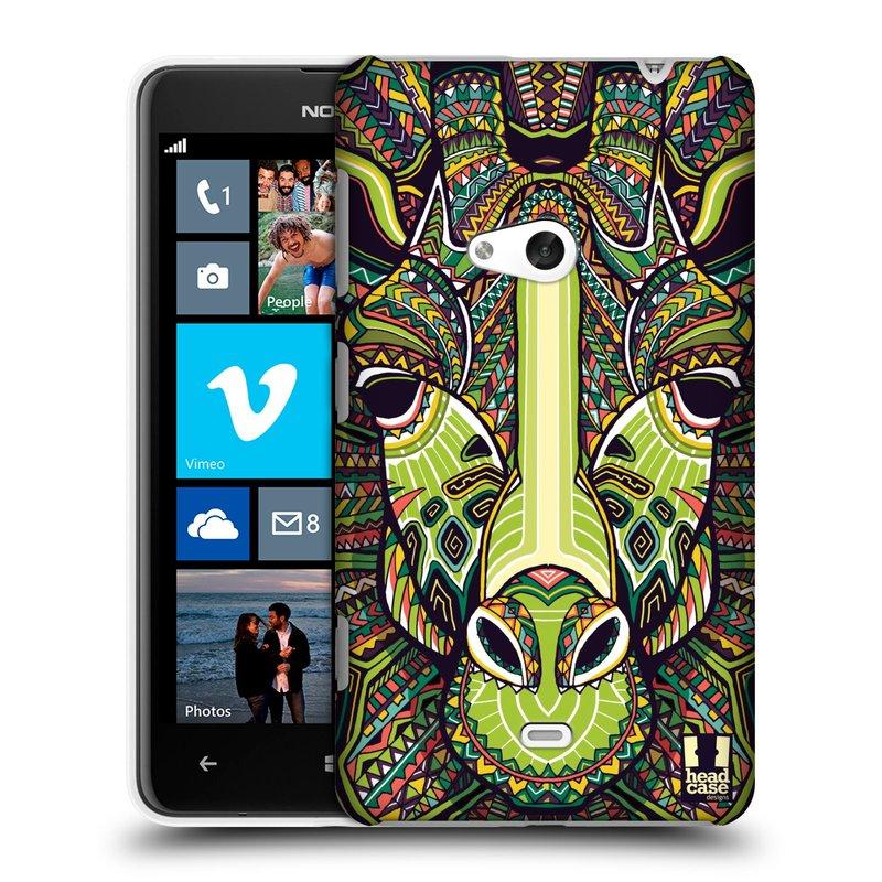 Plastové pouzdro na mobil Nokia Lumia 625 HEAD CASE AZTEC ŽIRAFA (Kryt či obal na mobilní telefon Nokia Lumia 625)