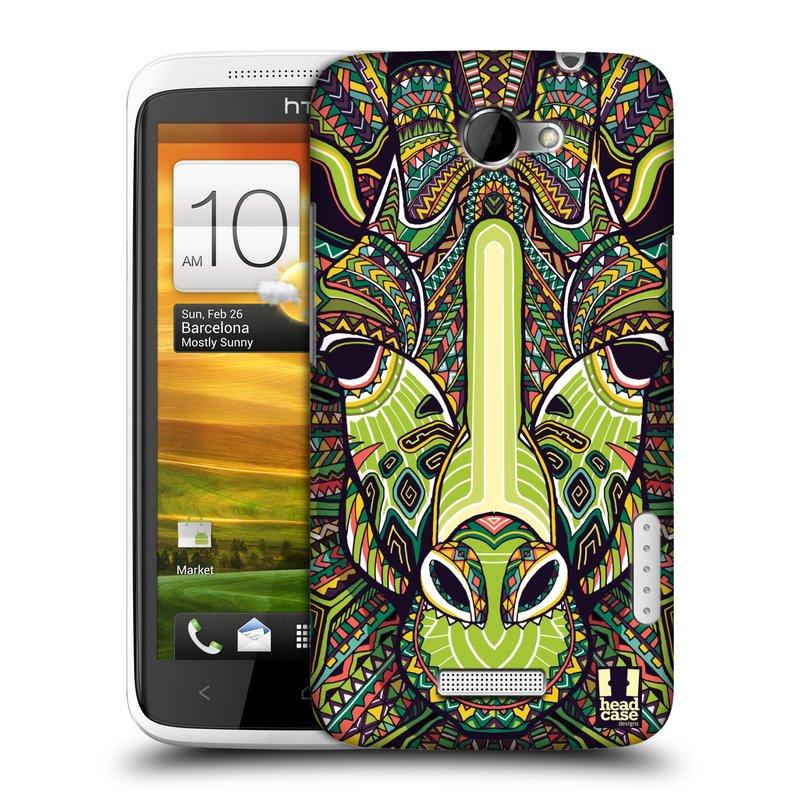 Plastové pouzdro na mobil HTC ONE X HEAD CASE AZTEC ŽIRAFA (Kryt či obal na mobilní telefon HTC ONE X)