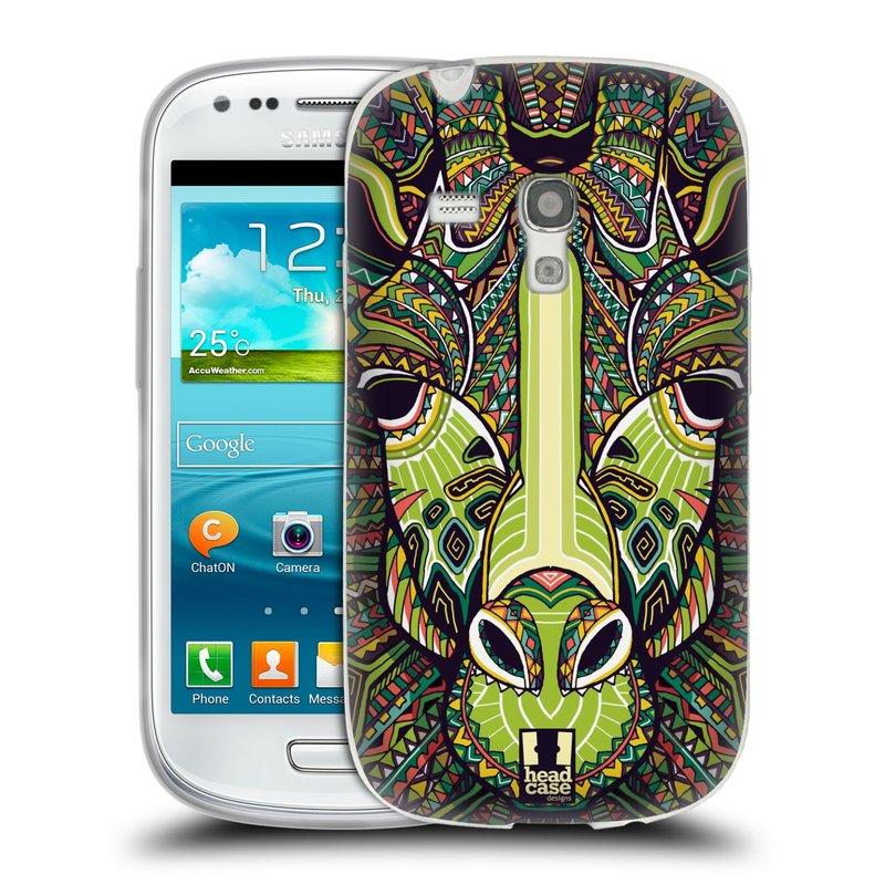 Silikonové pouzdro na mobil Samsung Galaxy S III Mini HEAD CASE AZTEC ŽIRAFA (Silikonový kryt či obal na mobilní telefon Samsung Galaxy S III Mini GT-i8190)