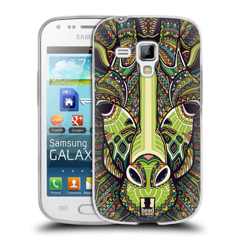 Silikonové pouzdro na mobil Samsung Galaxy S Duos 2 HEAD CASE AZTEC ŽIRAFA (Silikonový kryt či obal na mobilní telefon Samsung Galaxy S Duos 2 GT-S7582)