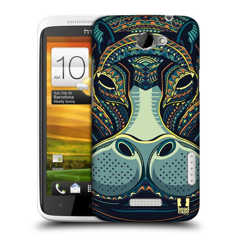 Plastové pouzdro na mobil HTC ONE X HEAD CASE AZTEC HROCH (Kryt či obal na mobilní telefon HTC ONE X)