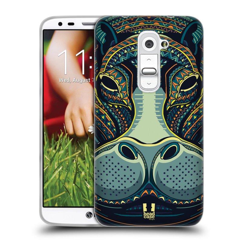 Silikonové pouzdro na mobil LG G2 HEAD CASE AZTEC HROCH (Silikonový kryt či obal na mobilní telefon LG G2 D802)