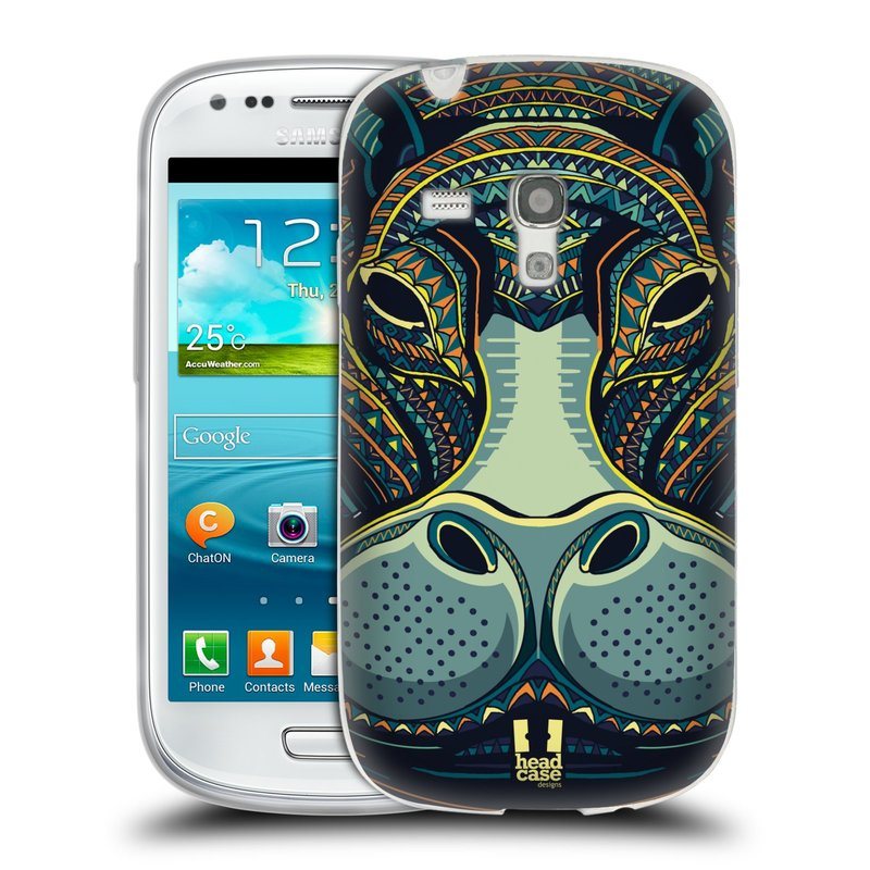 Silikonové pouzdro na mobil Samsung Galaxy S III Mini HEAD CASE AZTEC HROCH (Silikonový kryt či obal na mobilní telefon Samsung Galaxy S III Mini GT-i8190)