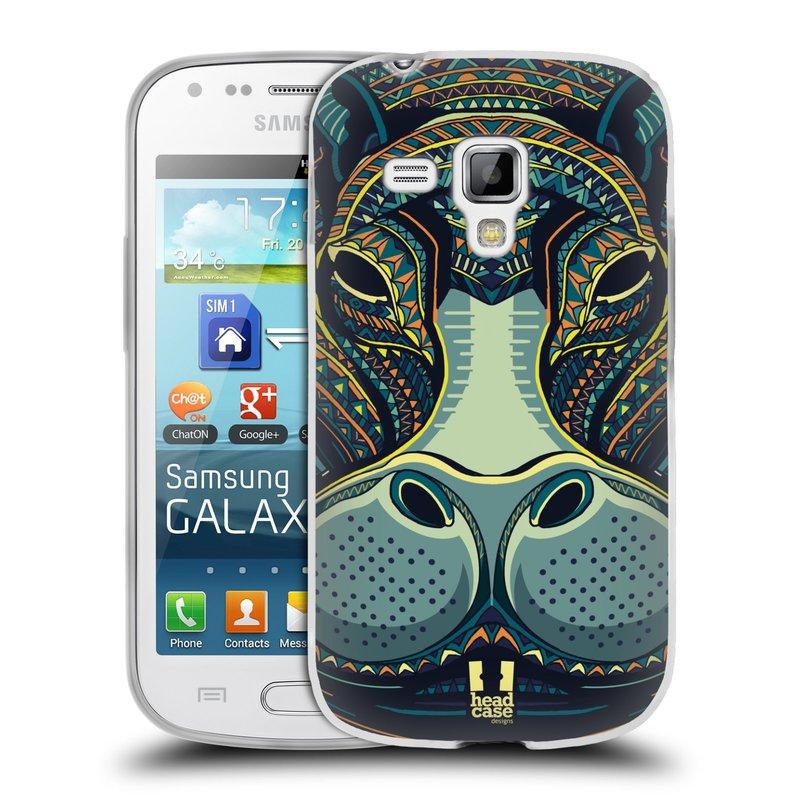 Silikonové pouzdro na mobil Samsung Galaxy S Duos 2 HEAD CASE AZTEC HROCH (Silikonový kryt či obal na mobilní telefon Samsung Galaxy S Duos 2 GT-S7582)