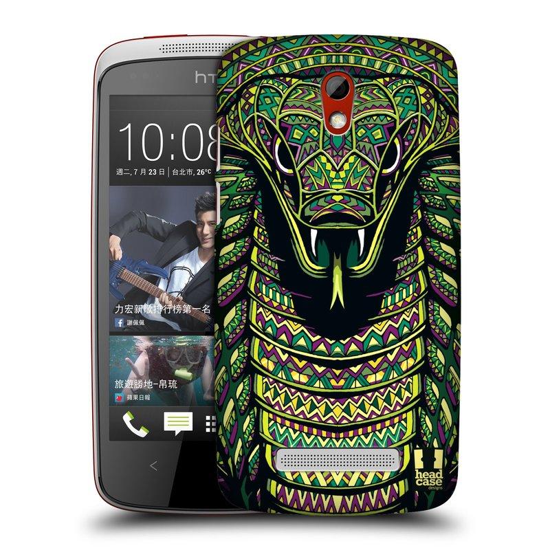 Plastové pouzdro na mobil HTC Desire 500 HEAD CASE AZTEC HAD (Kryt či obal na mobilní telefon HTC Desire 500)