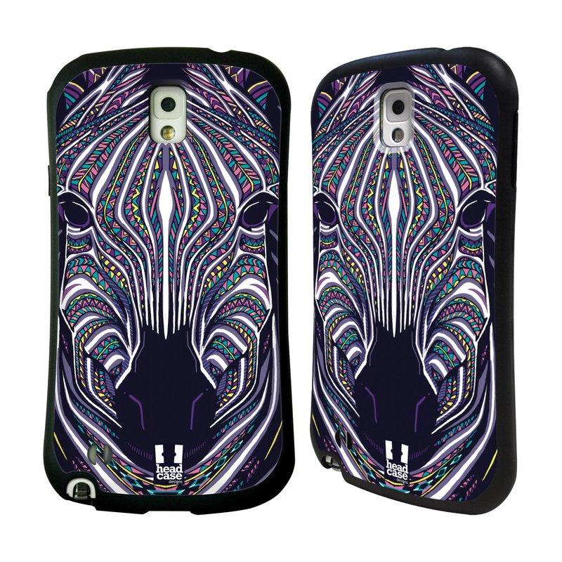 Nárazuvzdorné pouzdro na mobil Samsung Galaxy Note 3 HEAD CASE AZTEC ZEBRA (Odolný nárazuvzdorný silikonový kryt či obal na mobilní telefon Samsung Galaxy Note 3 SM-N9005)