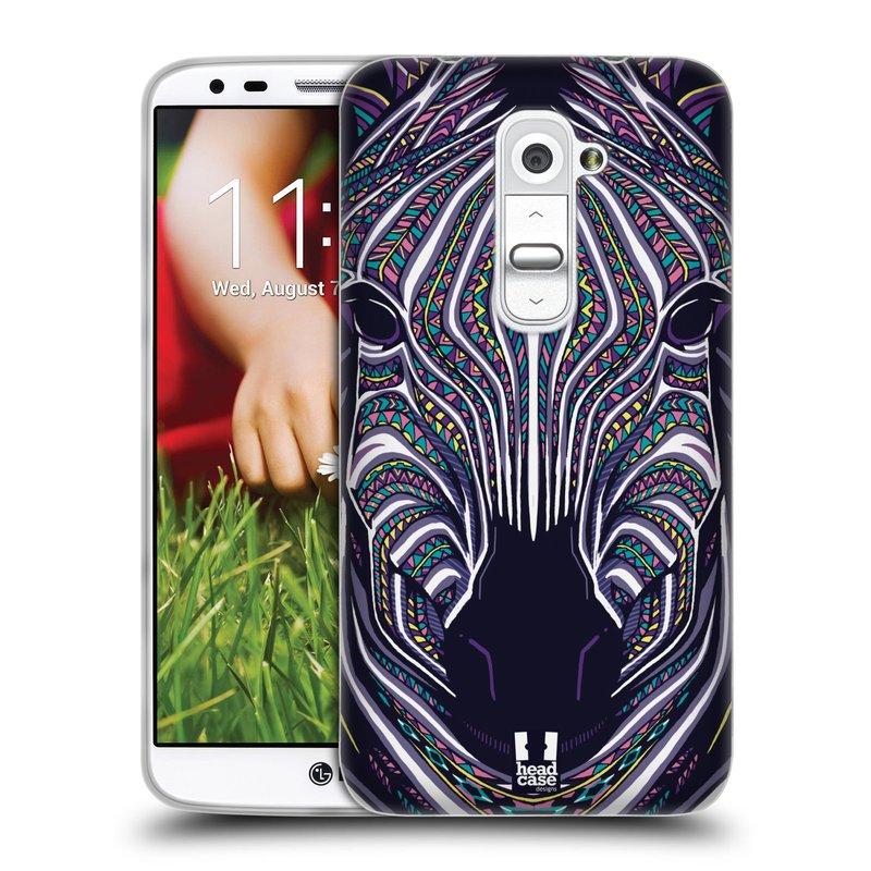 Silikonové pouzdro na mobil LG G2 HEAD CASE AZTEC ZEBRA (Silikonový kryt či obal na mobilní telefon LG G2 D802)