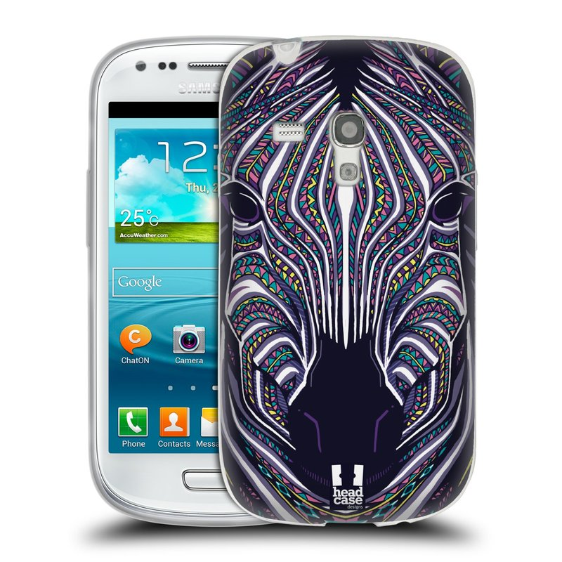 Silikonové pouzdro na mobil Samsung Galaxy S III Mini HEAD CASE AZTEC ZEBRA (Silikonový kryt či obal na mobilní telefon Samsung Galaxy S III Mini GT-i8190)
