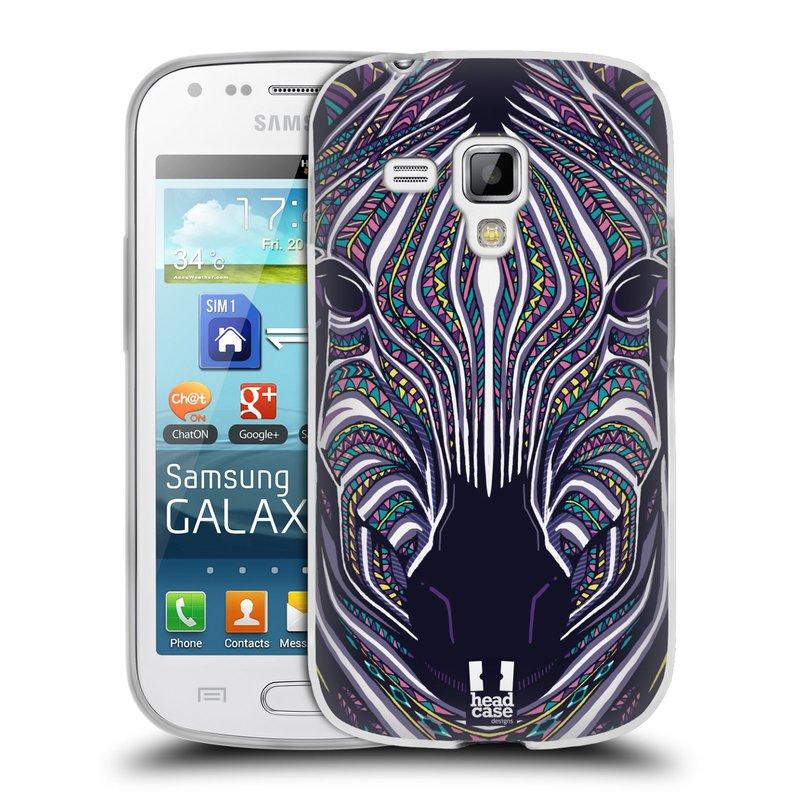 Silikonové pouzdro na mobil Samsung Galaxy S Duos 2 HEAD CASE AZTEC ZEBRA (Silikonový kryt či obal na mobilní telefon Samsung Galaxy S Duos 2 GT-S7582)